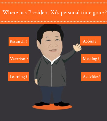 Where has President Xi's personal time gone ?