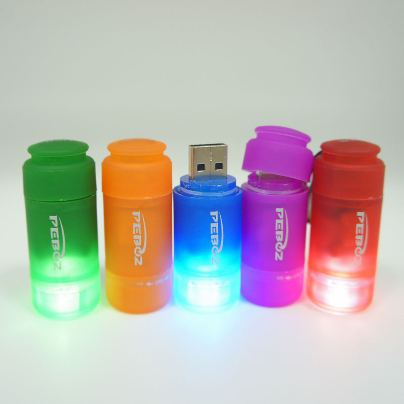 USB Rechargeable Keychain Light-Purple