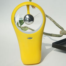 Battery power mini fan-The yellow like autumn leaves
